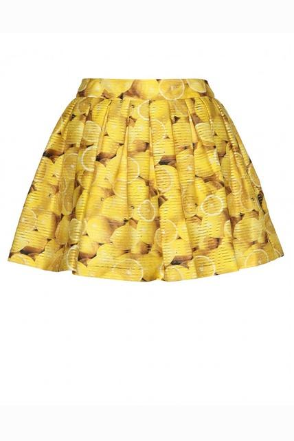 falda estampada de limones de Alice+Olivia