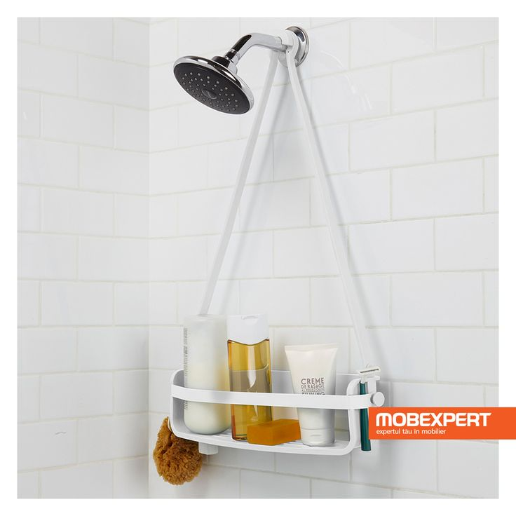 Păstrează la îndemână toate produsele de care ai nevoie la duș. #dus #baie #accesorii