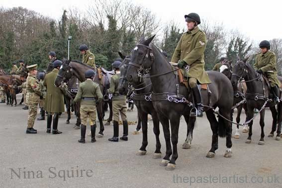 """The King's Troop Royal Horse Artillery is a British Army mounted, ceremonial unit that fires Royal Salutes on royal anniversaries and state occasions, and they provide a gun carriage and a team of black horses for state and military funerals.  When the Army mobilises, the unit provides heavy goods vehicle drivers who deliver ammunition to artillery units around the battlefield."""