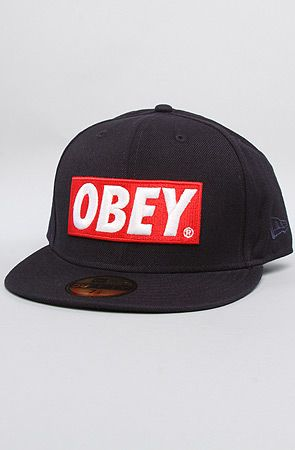 THE FITTED VERSION IS HERE!! The Classical Material New Era Hat in Navy by Obey