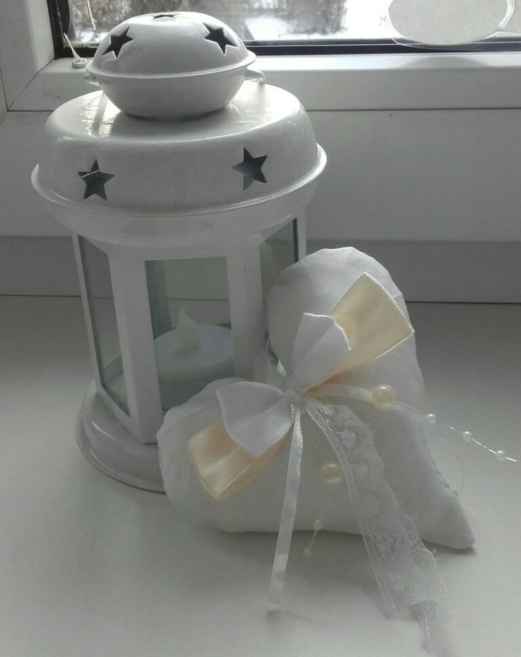 Svatební dekorace - srdíčko  (handmade)