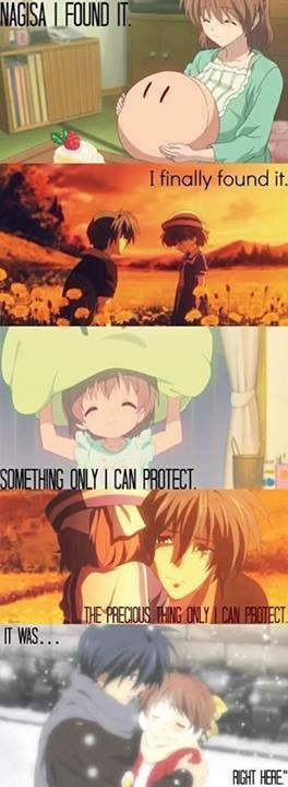 *sigh* Clannad & Clannad after story... They make me both extremely happy and depressingly sad. But i love em