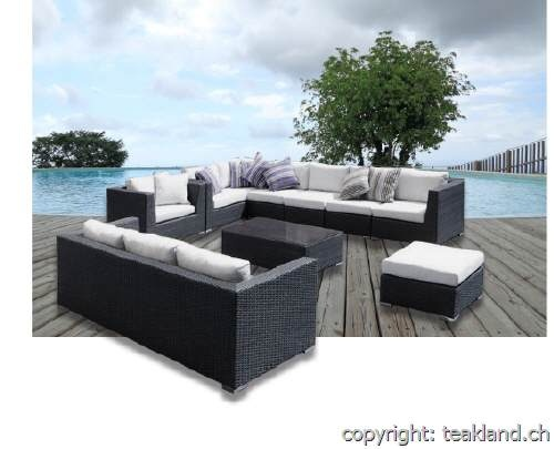 gartenlounge rattan. Black Bedroom Furniture Sets. Home Design Ideas