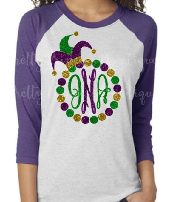 feec0398eff38 Mardi Gra Shirt - Mardi Gra T Shirt POST MONOGRAM INITIALS IN NOTES TO  SELLER AT CHECKOUT FIRST LAST MIDDLE ORDER PLEASE always check size charts  in the ...