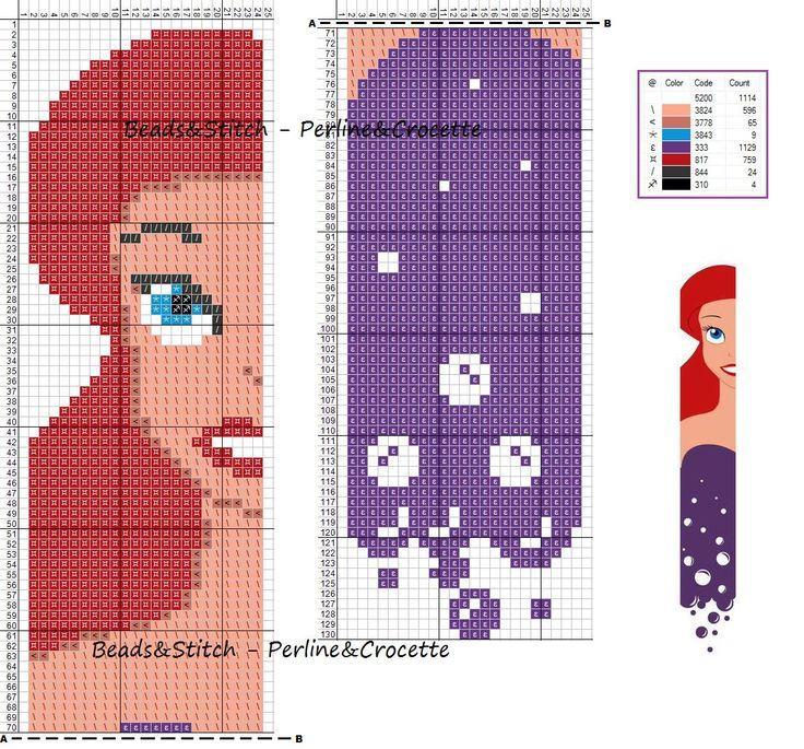 Ariel The Little Mermaid - Disney pattern                              …