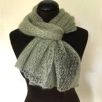 Lille Sky - tørklæde strikket i mohair/silke
