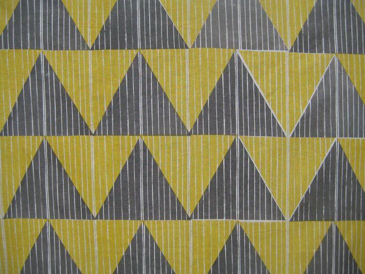 Handprinted fabric by Smitten Design Textiles