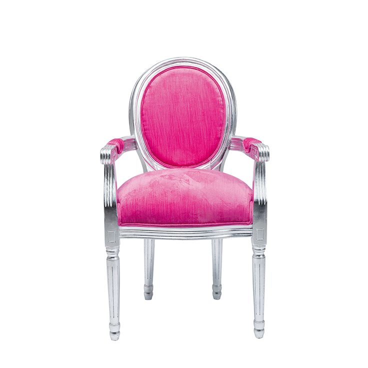 Vår populära Louis-serie, nu i galna färger.  http://www.wohnzimmer.se/se/produkter/inredning_mobler_online/stolar-pallar-barstolar/stol-louis-pink-silver.php