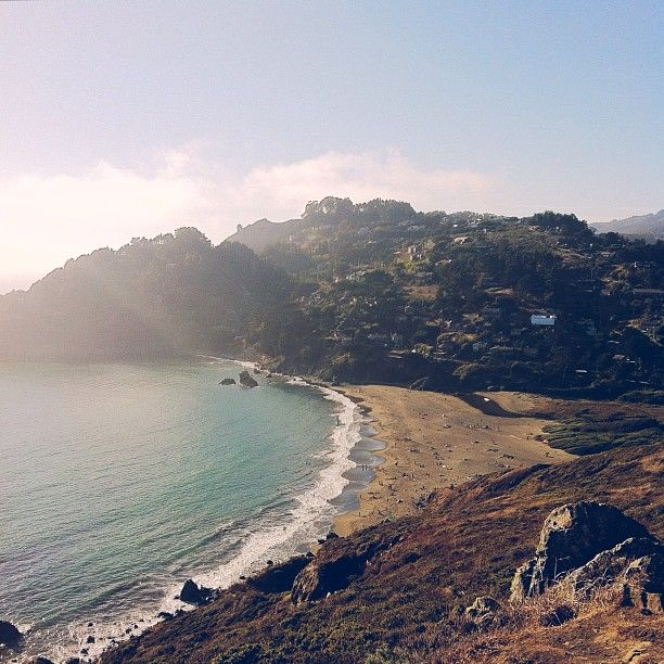 Muir Beach in Mill Valley, CA. Gets really busy on weekends. Nice place for a short walk or picnic.