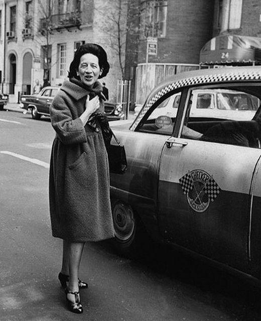 Diana Vreeland cabbing itFashion, Inspiration, Google Search, Diana Vreeland, Dianavreeland, Style Icons, Perfect Coats, Women, People