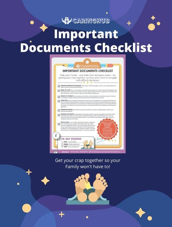 Important Documents Checklist Etsy Important Documents Documents Checklist