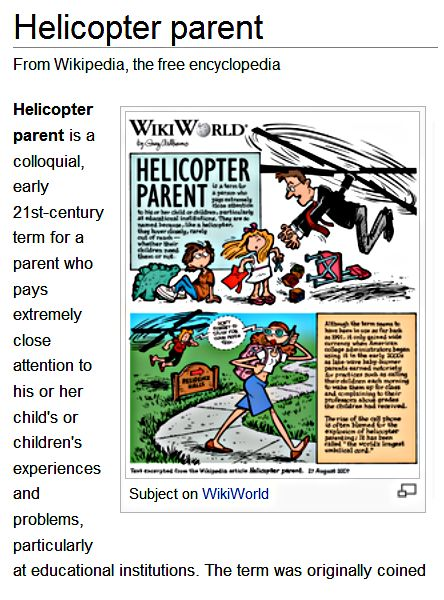 how to avoid being a helicopter parent