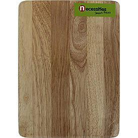 Necessities Wooden Chopping Board 10 x 200 x 270mm - $5. NEVER use glass - it blunts your knives and is terrible for the blades.