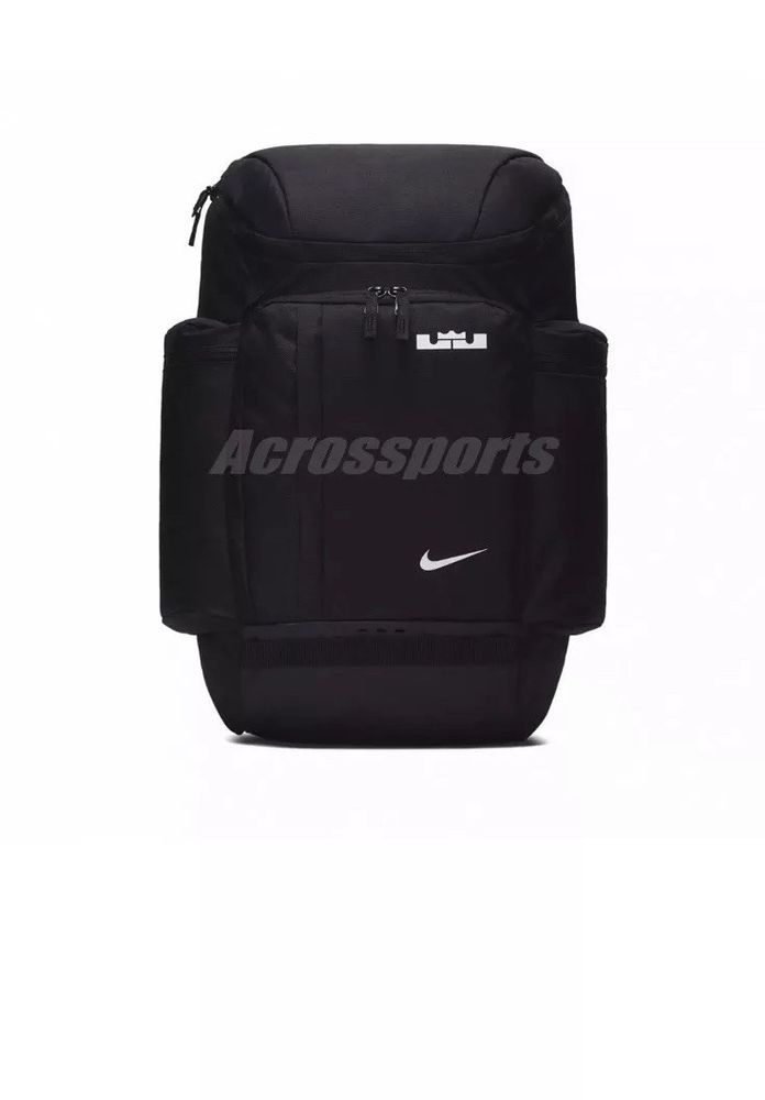b8d4bd3725ad Nike LeBron James Backpack Basketball Bag Max Air Training Gym Black BA5563- 010  Nike  Backpack