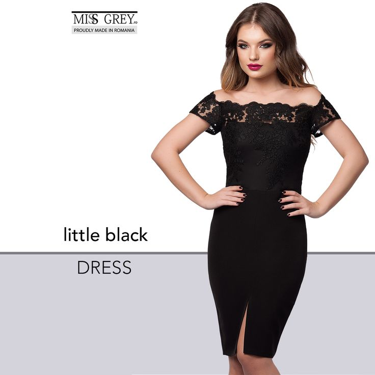 Spectacular  and sophisticated  due to the off-shoulder design, the black Kristie dress will ensure you an elegant and mysterious presence.