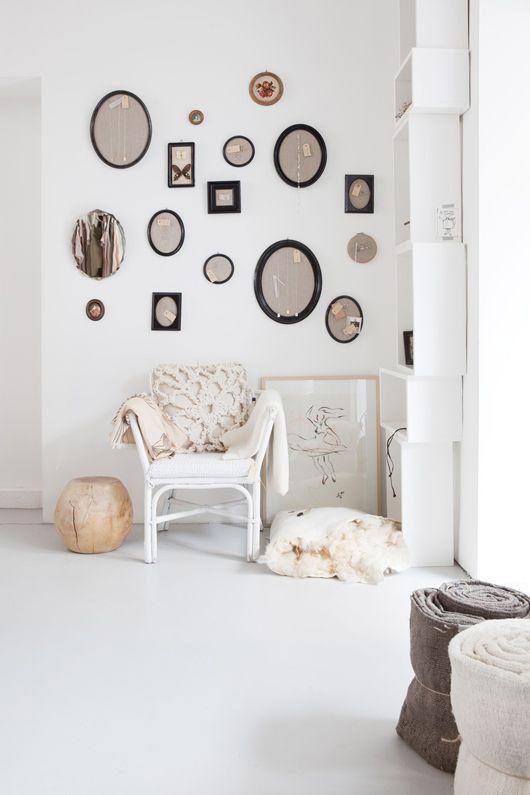 curated collection of vintage mirrors. / sfgirlbybay
