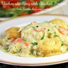 Chicken ala King - Chicken ala King made with rotisserie chicken, carrots, mushrooms, celery and peas. #SundaySupper - Recipes, Food and Cooking