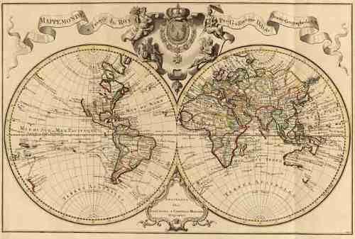 mapas planisferios antiguos en tela canvas oferta x 2