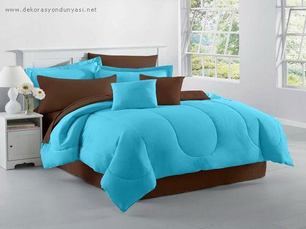 turkuaz yatak odası aksesuarları