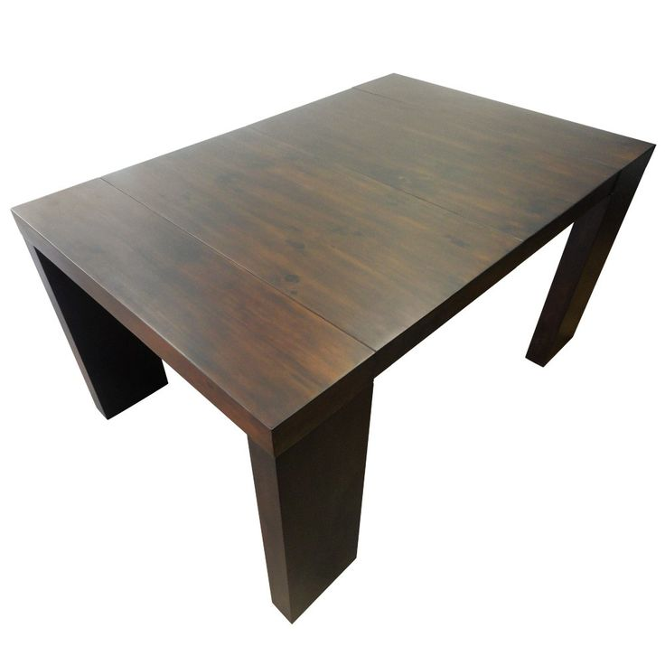 Attractive console extensible en bois massif 14 table for Table bois massif extensible