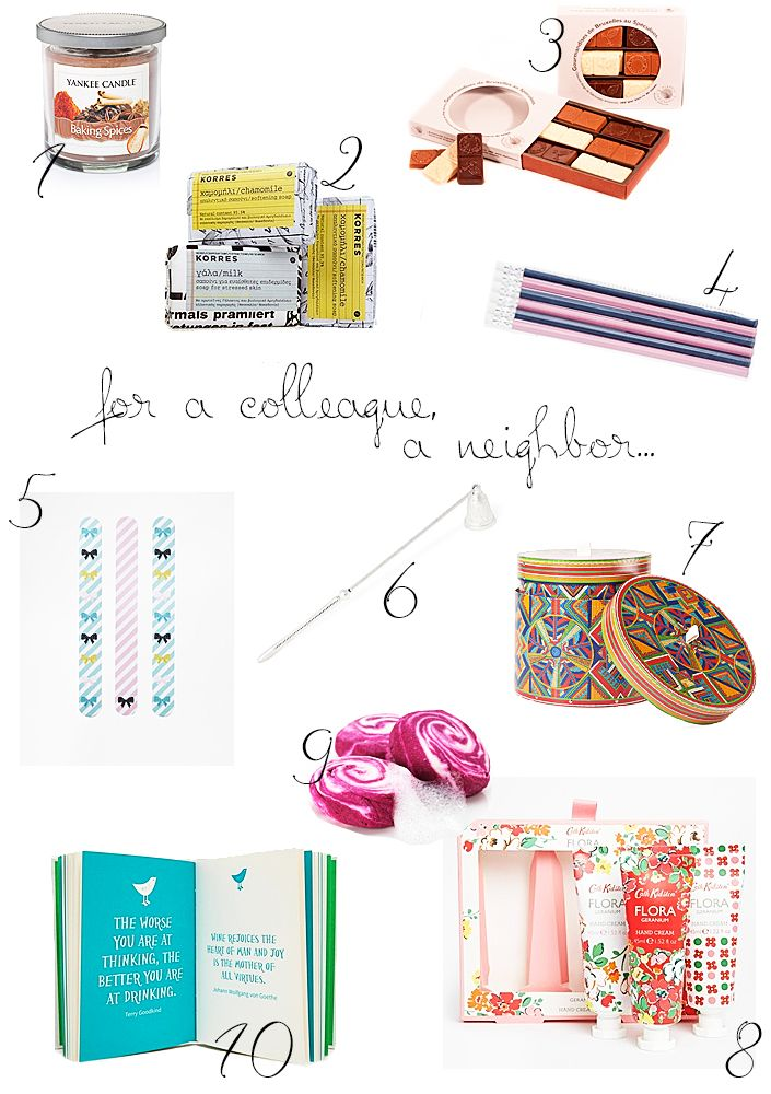 Christmas gifts ideas for her. How to please your colleagues and neighbours.