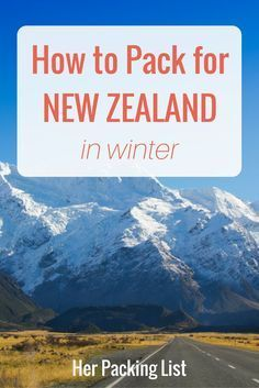 how to pack for new zealand in winter