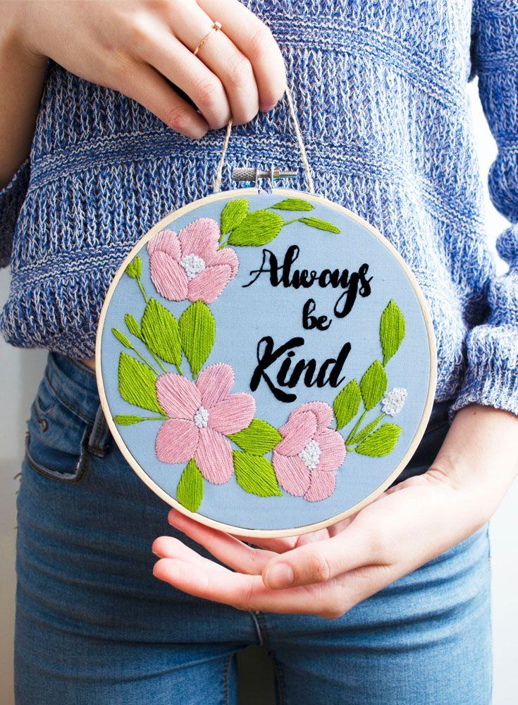 Pink hoop Be Kind.