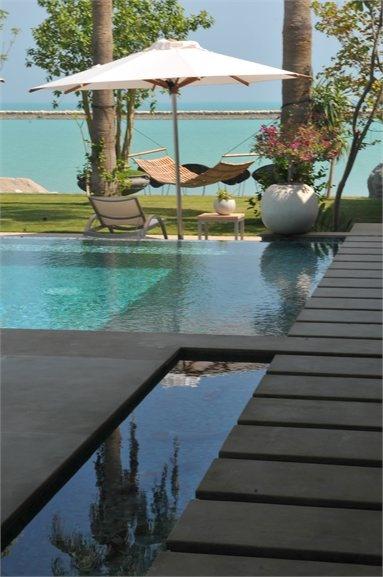 Beach villa Bahrein - Al Manamah, #Bahrain - 2009 - Studio Mammini Candido #pools #swimmingpools
