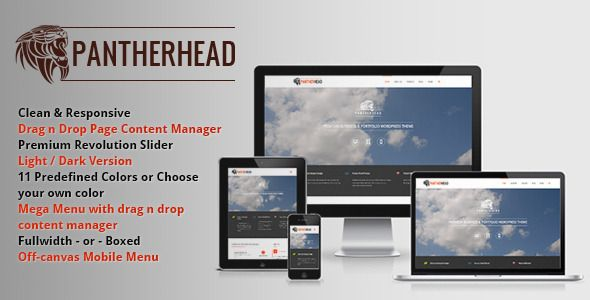 PantherHead – Premium Business & Portfolio Theme (Business) | Web Templates Database #freedownload