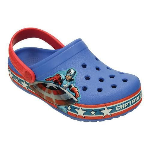 74749980a068 Boys  Crocs Crocband Captain America Clog Juniors Varsity  Red ...
