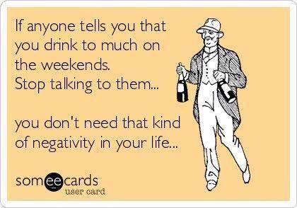 Negativity is bad. Cheers!