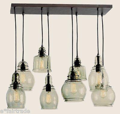 Netpotterybarn Lighting : POTTERY BARN Paxton Glass 8-Light Pendant Chandelier, NEW: Barn Paxton ...