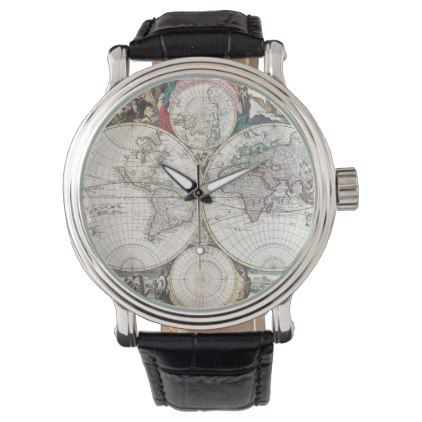 The 25 best map watch ideas on pinterest urban outfitters vintage world map watch retro traveller wanderlust retro gifts style cyo diy special idea gumiabroncs Images