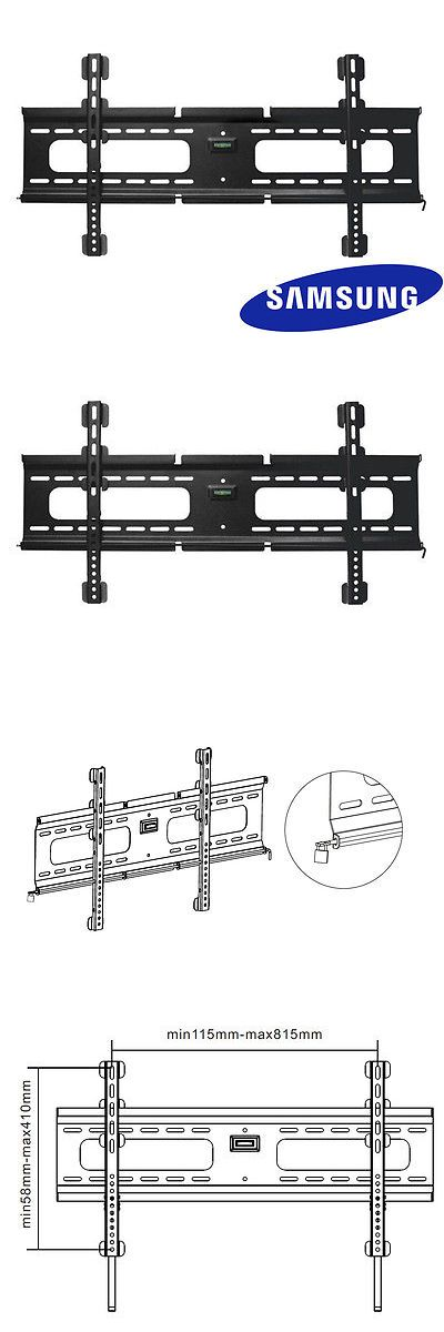 TV Mounts and Brackets: Ultra-Slim Fixed Samsung Tv Wall Mount 37 40 42 50 55 60 70 Inch Led Lcd Plasma BUY IT NOW ONLY: $34.94