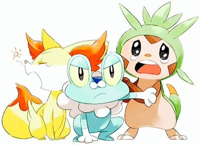 Pokemon Kalos starters