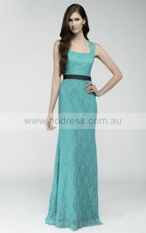 Lace Scoop Natural A-line Floor-length Bridesmaid Dresses 0740686--Hodress