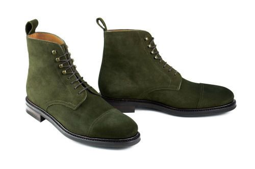 Handmade mens hunter green ankle boots, Men suede boot, Men ankle high boot #Handmade #AnkleBoots