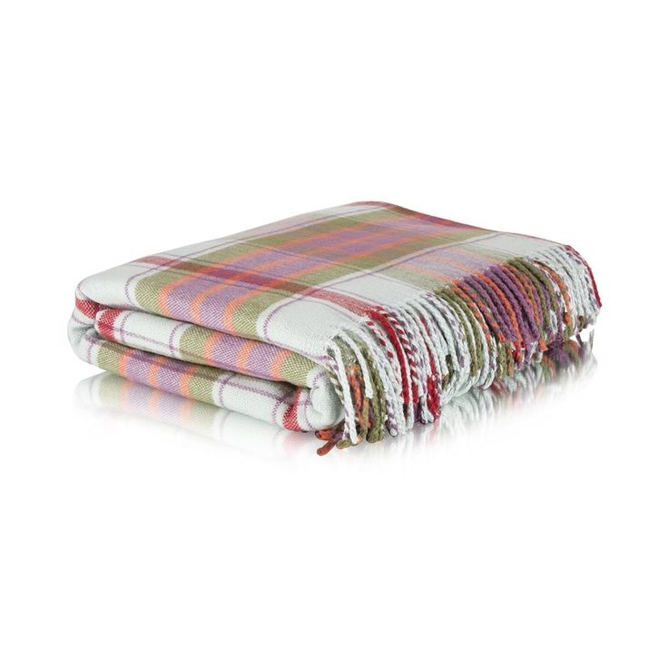 Brushed Knit Check Throw