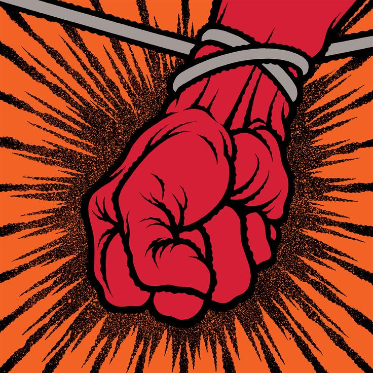 Metallica - St. Anger  Whatever you may think of the music, it's a damn good album cover. Art by Pushead
