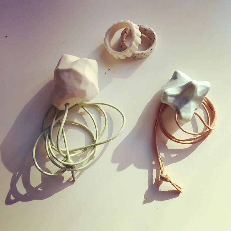 Porcelain jewelery by Rikke Hostrup