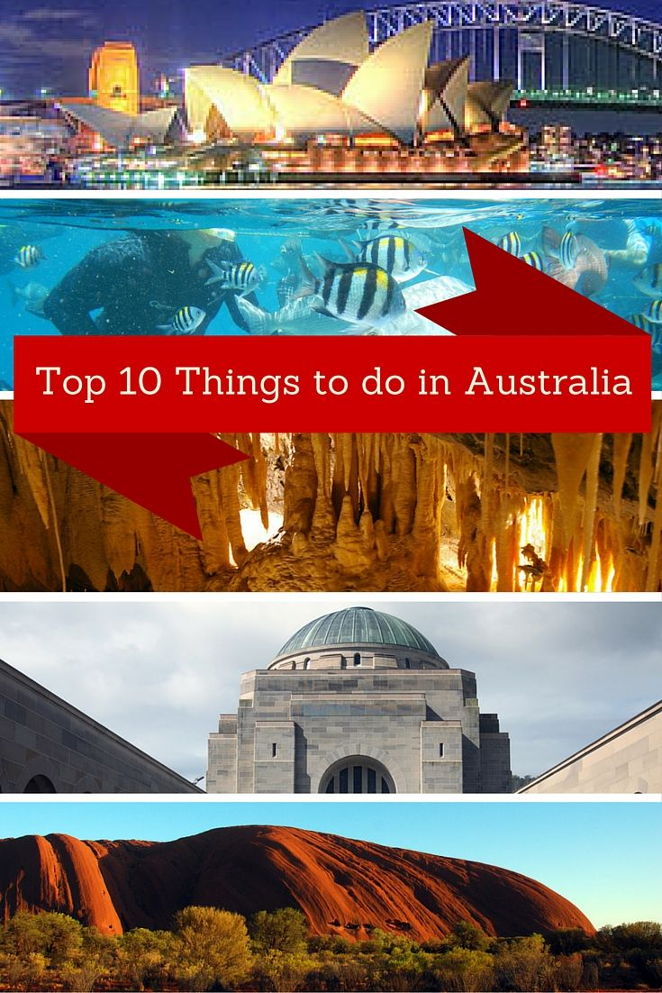 You know about the Great Barrier Reef and the Sydney Opera house, but what else should you see and do in Australia? See this list of Top 10 Things to do.