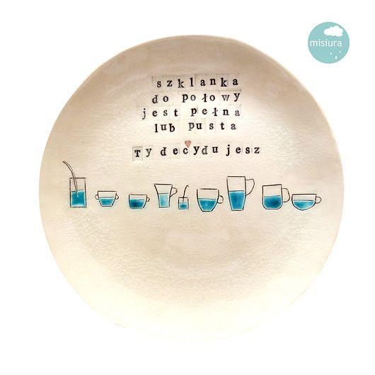 dodatki - kuchnia - misy, patery i talerze-Patera ceramiczna szklanka