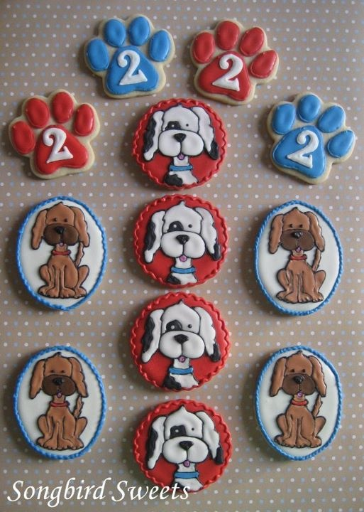 Puppy cookies for Brendon's 2nd birthday!!