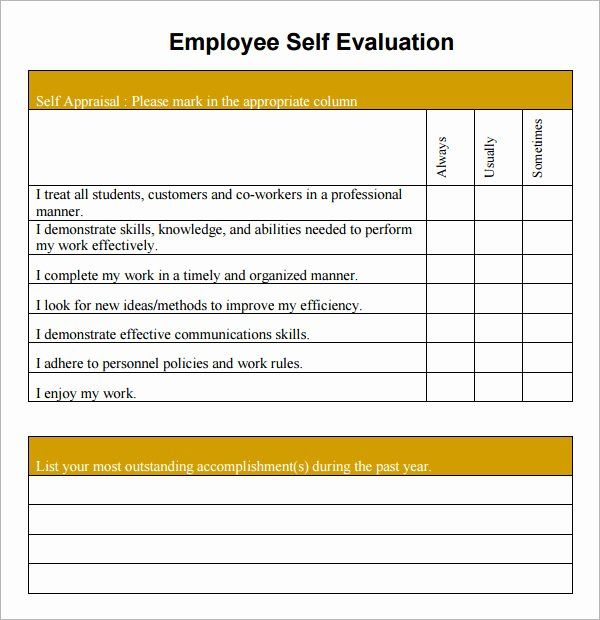 Unique Free Employee Performance Review Template In 2020