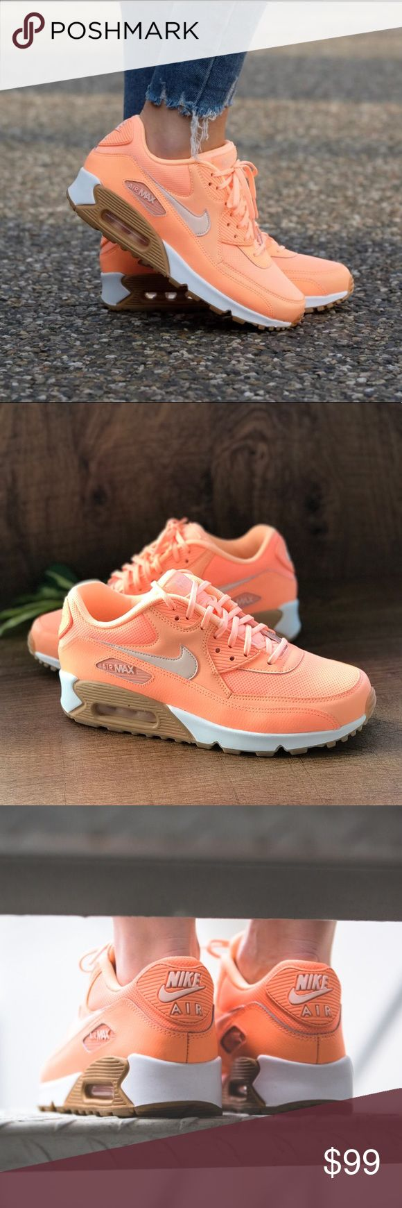 "NWT Nike Air Max 90 Sunset Glow WMNS Brand new with no lid box. Price is firm! No trades. Lady Air Max lovers can get a bright ray of sunshine on their feet this summer with the all-new ""Sunset Glow"" edition of the Air Max 90. Perfect for your tropical summertime vibes, the iconic Air Max model gets blasted with bright orange across the synthetic leather and mesh upper with a white midsole and the perfect touch for the outsole: gum rubber. Grab a pair while they last from select Nike…"