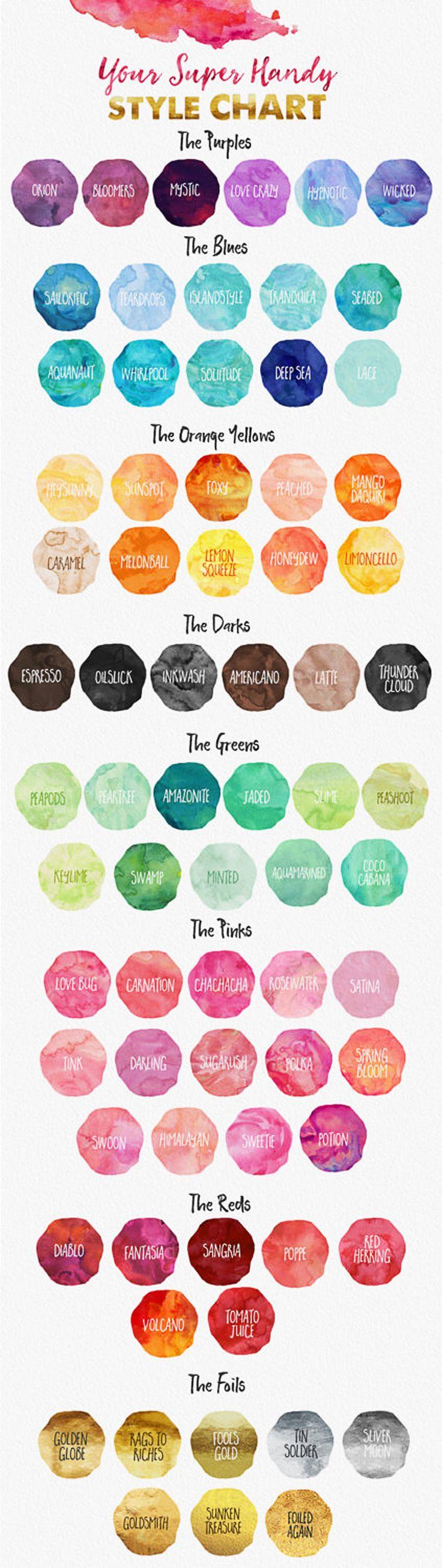 color swipes