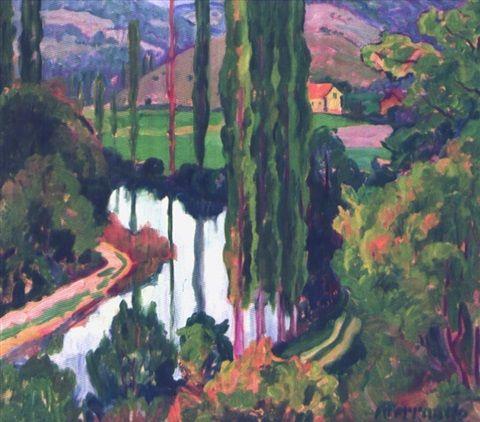 Peinture alg rie l 39 oued taria par augustin ferrando - Peinture satinee algerie ...