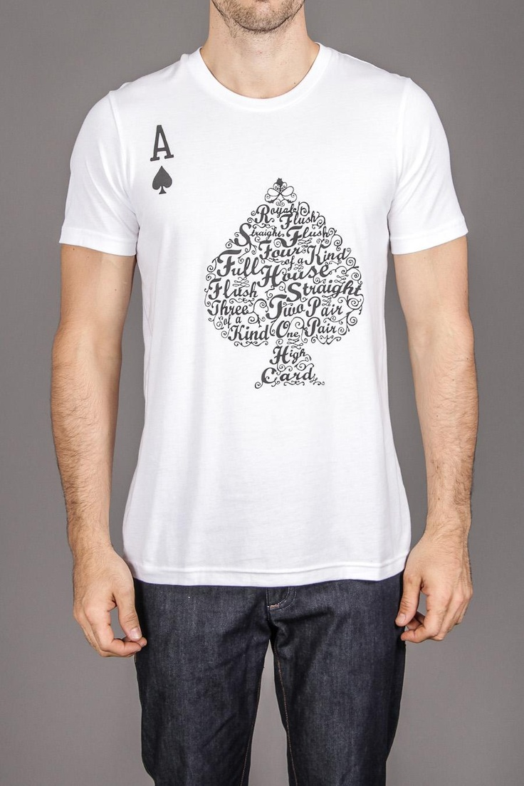 Threadless Poker Hand Values TeePoker Hands,  T-Shirt, Gangsters Poker, Jersey,  Tees Shirts, Values Tees, Poker Games, Hands Values, Threadless Poker
