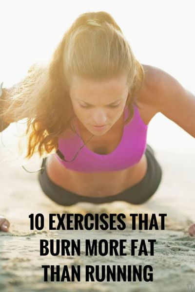 10 exercises that torch calories as fast as running. #fitness