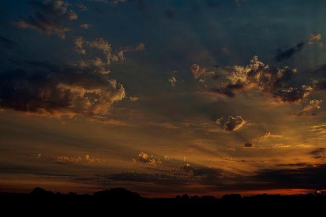 Natuurfoto Westerwolde: De laatste zonnestralen van deze zomerse dag.